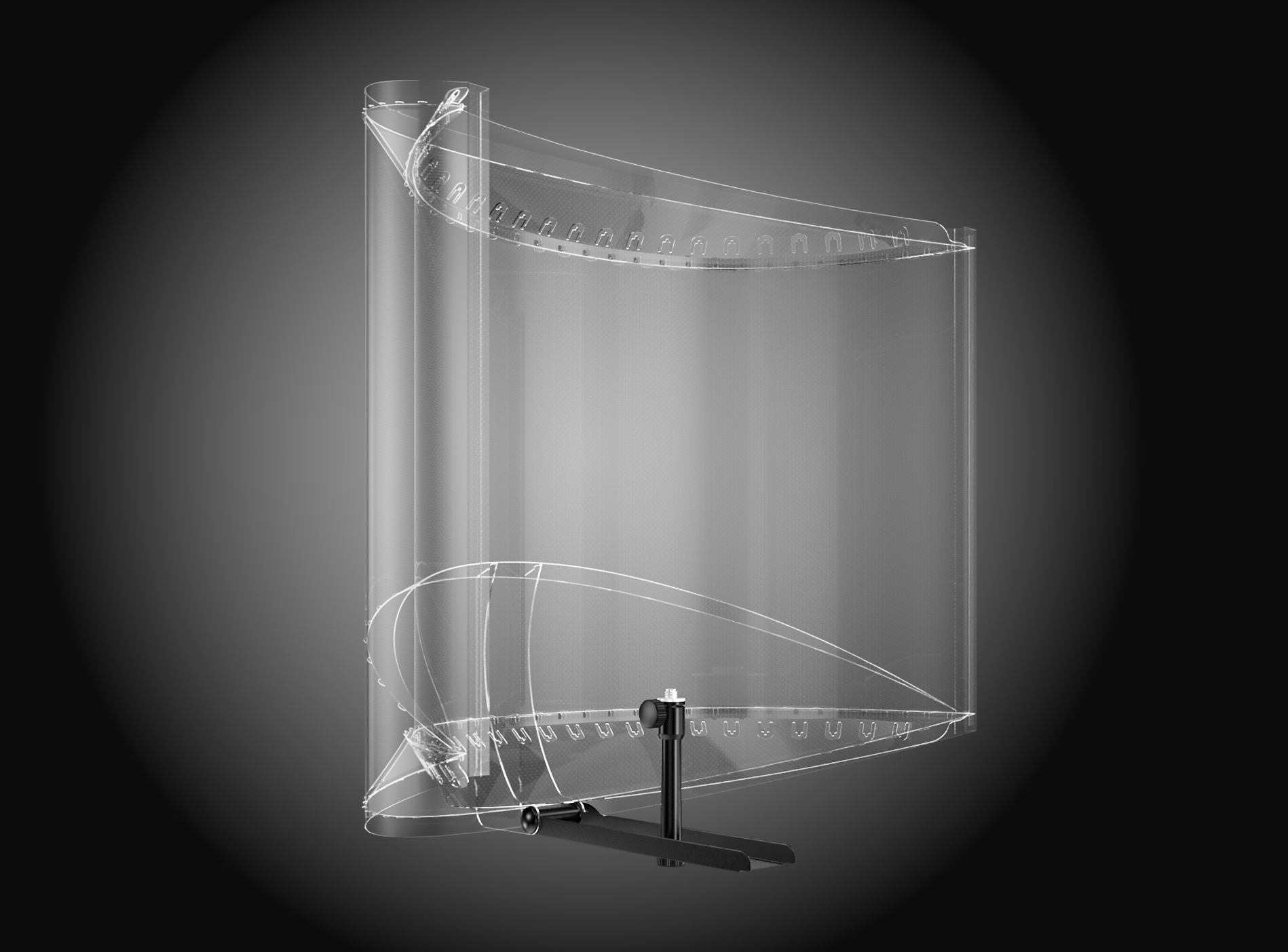 Xorber X 7. Mic-Screen. Transparent